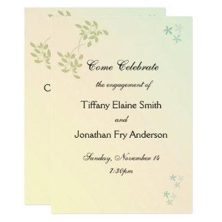Cartão Amor no noivado dos louros