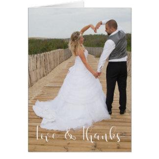Cartão Amor & obrigados que Wedding o obrigado você