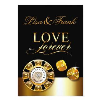 Cartão Amor para sempre Las Vegas que Wedding o preto do