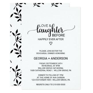 Cartão Amor & riso antes de feliz sempre em seguida