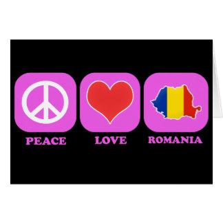 Cartão Amor Romania da paz