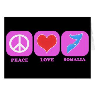 Cartão Amor Somália da paz