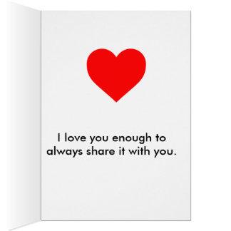 Cartão Amor verdadeiro!