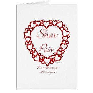 Cartão Amor verdadeiro de Sharpei do chinês