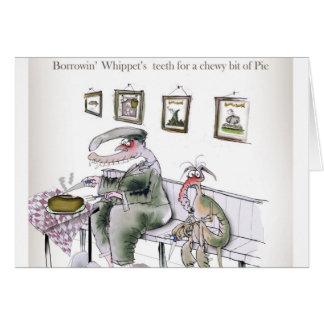 Cartão amor yorkshire que pede os dentes dos whippets