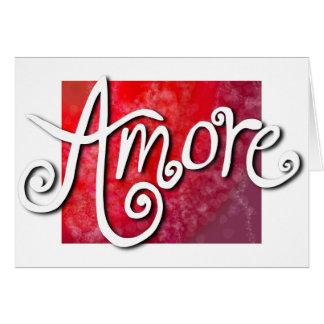 Cartão Amore - jazzístico vermelho reverso