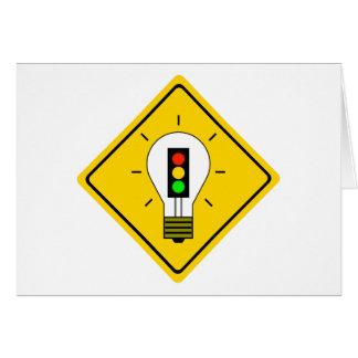 Cartão Ampola do sinal de trânsito adiante