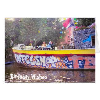 Cartão Amsterdão Coffeeshop, desejos do aniversário