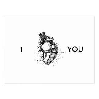 Cartão anatômica correto engraçado do coração