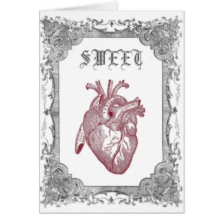 Cartão anatômico do querido do vintage