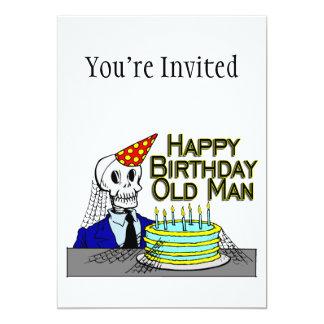 Cartão Ancião da Web de aranha do feliz aniversario