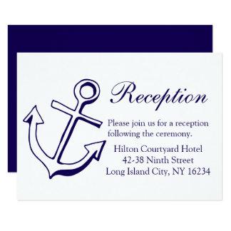 Cartão Âncora náutica do navio da recepção de casamento