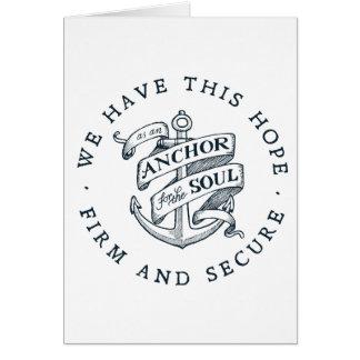 Cartão Âncora para a alma