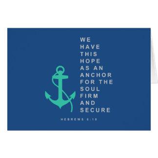 Cartão Âncora para a alma (6:19 dos hebraicos)