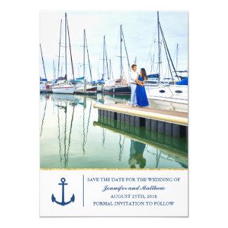 Cartão Ancorado em economias náuticas da âncora do amor