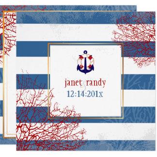 Cartão Âncoras náuticas de PixDezines+lifesavers/cor diy