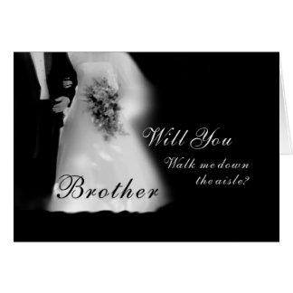 Cartão Anda eu abaixo do irmão do corredor? Wedding