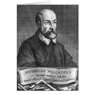 Cartão Andrea Palladio gravado por Francesco