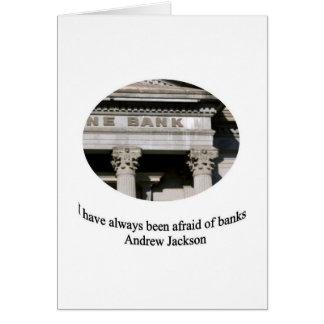 Cartão Andrew Jackson com citações