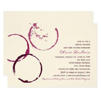 Cartão Anéis da mancha do vinho do chá de panela |
