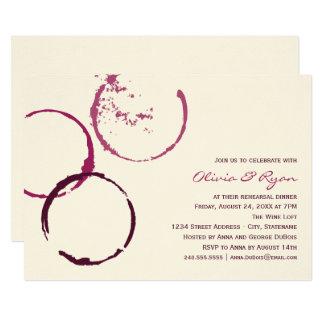 Cartão Anéis da mancha do vinho do jantar de ensaio | do