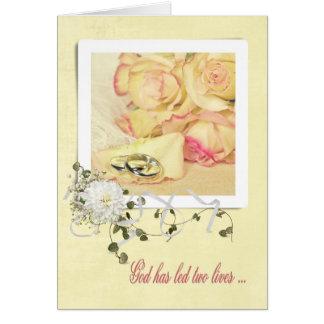Cartão Anéis de prata