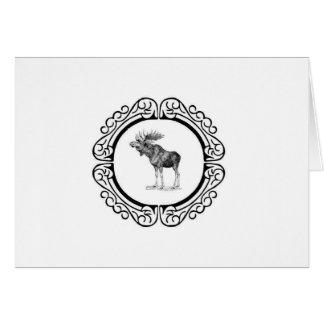 Cartão anel dos alces do touro