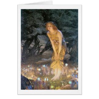 Cartão Anel feericamente da véspera de Misaummer