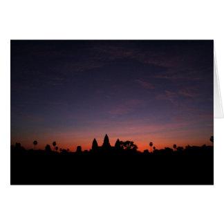 Cartão Angkor Wat no nascer do sol (cartão)