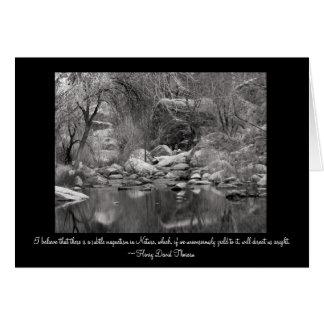 Cartão Angra da garganta de Sabino - cena do inverno