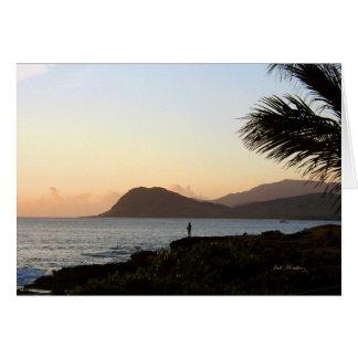 Cartão Angra vulcânica do Crepúsculo-Paraíso
