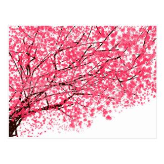 Cartão animador da flor de cerejeira