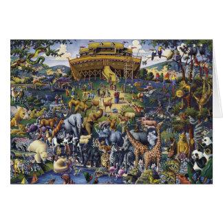 Cartão Animais da arca de Noahs