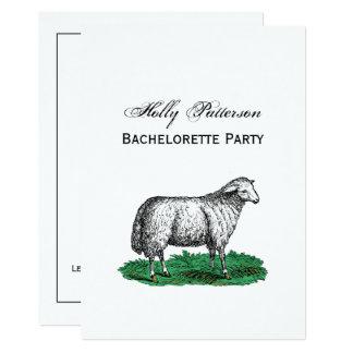 Cartão Animais de fazenda da ovelha dos carneiros do