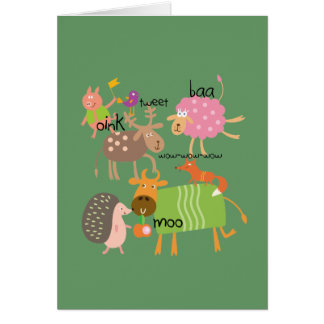 Cartão Animais parvos