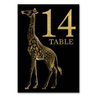 Cartão animal africano 14 do número da mesa do