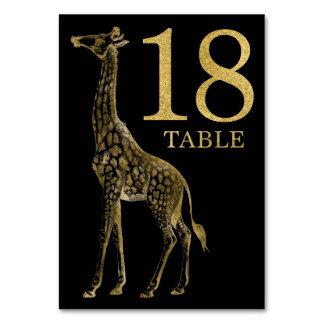 Cartão animal africano 18 do número da mesa do