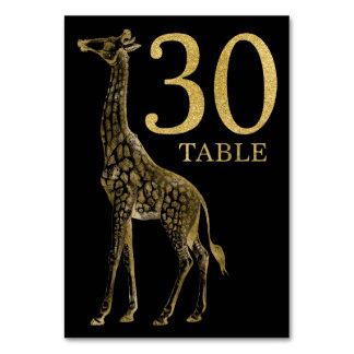 Cartão animal africano 30 do número da mesa do