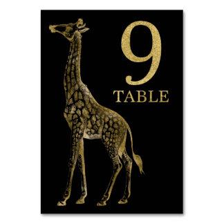 Cartão animal africano 9 do número da mesa do
