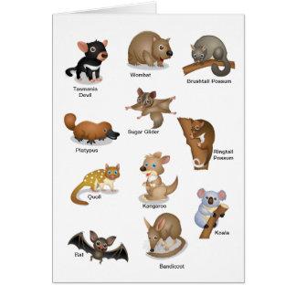 Cartão animal australiano