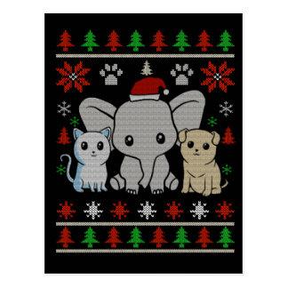 cartão animal bonito do Natal