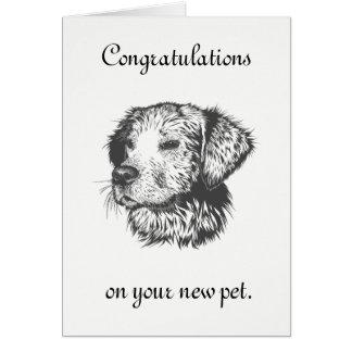 Cartão Animal de estimação novo
