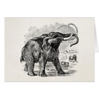 Cartão Animal extinto personalizado do Mammoth Woolly do