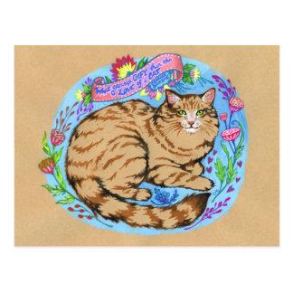 Cartão animal lunático da arte das citações do