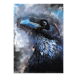 Cartão #animals do #bird do #crow da arte do corvo