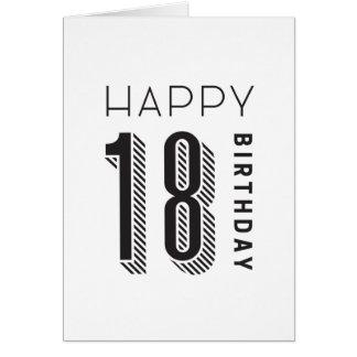 Cartão Aniversário 18 feliz