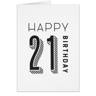 Cartão Aniversário 21 feliz