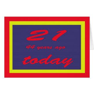Cartão aniversário 65th