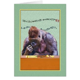 Cartão Aniversário, 65th, gorila na mesa