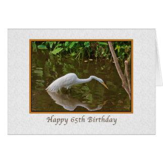Cartão Aniversário, 65th, grande pesca do Egret no rio